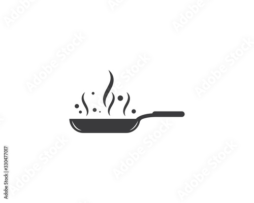 Carta da parati cooking pan logo vector template