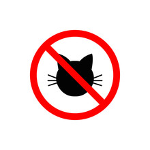 Prohibited Cat Vector Isolated...