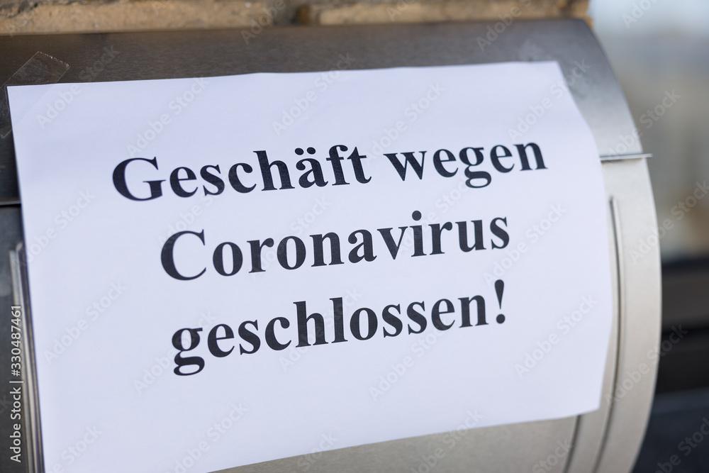 Fototapeta Symbolbild Corona-Virus