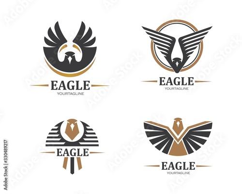 Fototapeta falcon,eagle logo icon vector illustration design