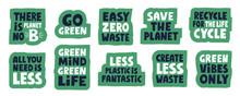 Set Of Stickers. Zero Waste Co...