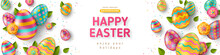 Easter Horizontal Banner With ...