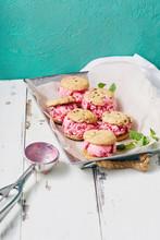 Raspberry Ice Cream Sandwiches...