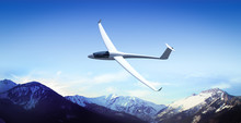 The Glider Is Flying In The Mo...