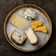 Cheese Plate With Different Ty...
