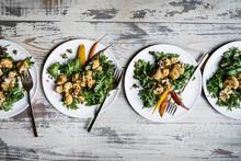 Roasted Cauliflower And Kale S...
