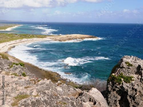 Anse des Salines et plage Tarare vue de la Pointe des châteaux en Guadeloupe Fototapeta