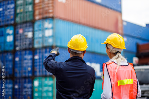 Slika na platnu Warehouse shipping transportation concept