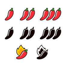 Hot Chili Peppers Icon Set