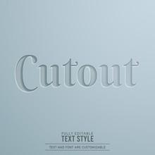 Cutout Paper 3D Editable Text ...