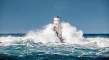 Ligthouse Storm Mangiabarche Calasetta Sardinia