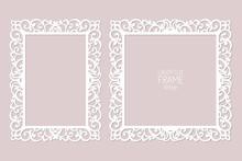 Laser Cut Paper Lace Frames, V...