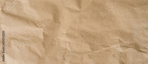 Obraz crumpled brown paper background and texture with copy  space. - fototapety do salonu