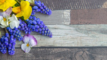 Wooden Background With Yellow ...