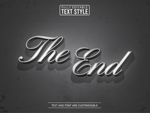 Old Vintage Movie Black And White Editable Text Effect