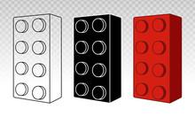 Lego Brick Block Or Piece Line...