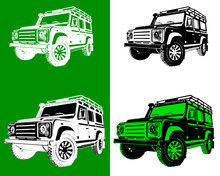 Off Road Silhouettes With Different Colors And Shapes Vector Illustration