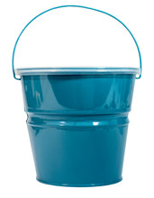 Blue Green Pail With Plastic L...
