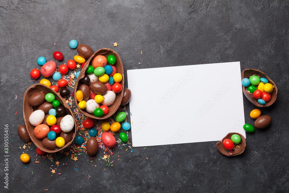 Fototapeta Chocolate easter eggs
