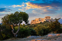 Iconic Parthenon Temple At The...
