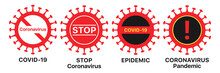 Coronavirus Icon Set. Global E...