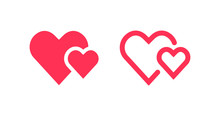 Isolated Heart Love Sign Vector Design.