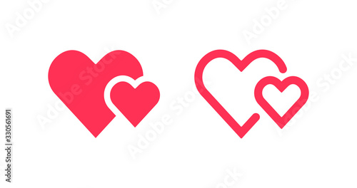 Photo Isolated heart love sign vector design.