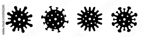Coronavirus 2019-nCoV icon Fotobehang
