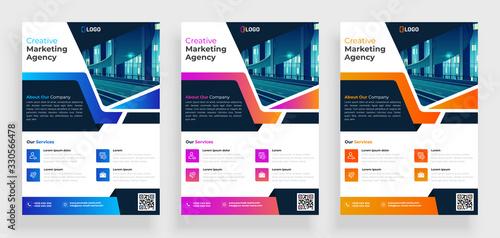 poster flyer pamphlet brochure cover design layout space for photo background, v Fototapet