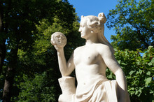 White Marble Statue Of Woman Allegory Of Truth