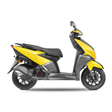 Racing Yellow Scooter Isolated...
