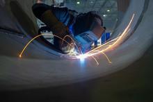 Welder Performs Welding Work S...