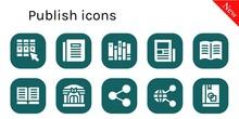 Publish Icon Set