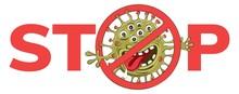 Stop Coronavirus. Vector Illus...