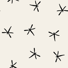 Seamless Pattern. Dragonfly In...