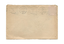 Old Aged Paper Envelope Isolat...
