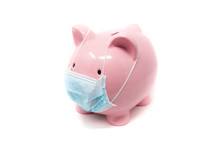 Piggybank Wearing Surgery Mask...
