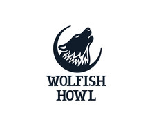 Wolf Howls On Sky, Logo Design...