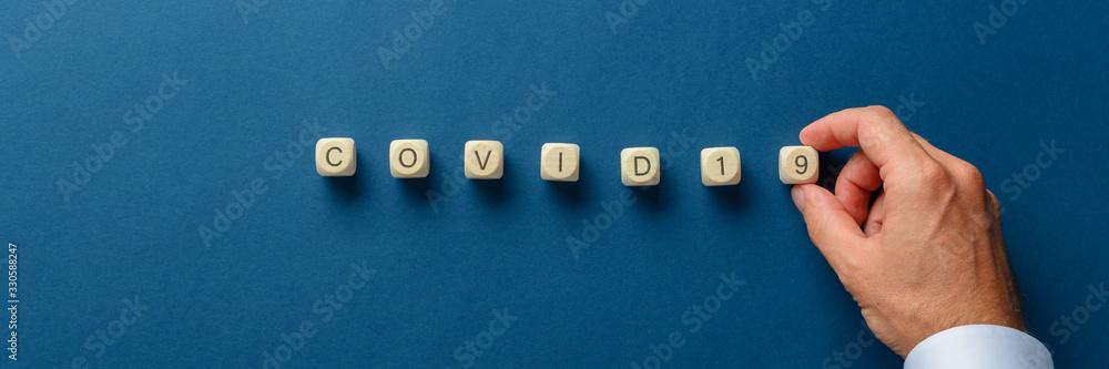 Fototapeta Covid 19 global virus threat