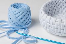 Crochet And Knit Fabric. Handm...