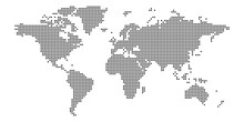 World Map Of Squares. Simple F...
