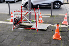 Open Manhole With Few Cables C...