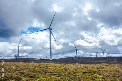 Fotografie, Obraz Parque eólico de energias renováveis em Portugal