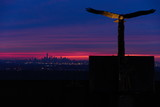 Fototapeta Nowy York - New York evening panorama from Eagle Rock observation deck.