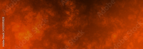 Fototapeta Abstract epic fire horizontal background with flame wave obraz