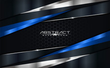 Modern Futuristic Background Vector On Layer Blue With Dark Navy And Shadow Black Space With Abstract Style Design.