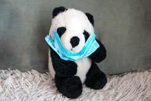 Asian Panda Take Off Medical M...