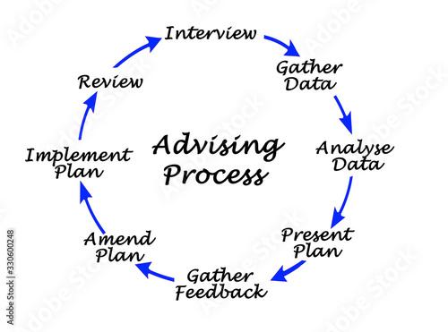 Advising Process Wallpaper Mural