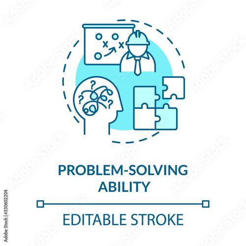 Obraz na plátne Problem solving ability turquoise concept icon