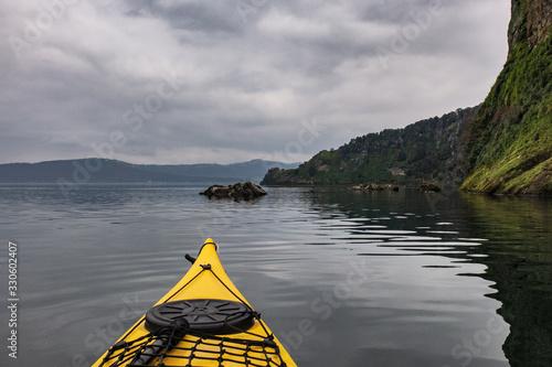 Obraz na plátne Escursione in kayak sul lago di Bolsena